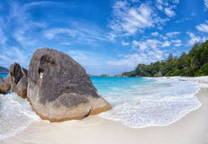 Boulders and ocean Stock Photos