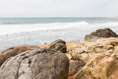 Boulders With an Ocean Background at Point Loma Tide Pools Royalty Free Stock Images