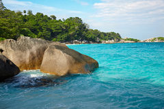 Boulders and ocean Royalty Free Stock Photos