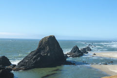 Boulders in pacific ocean, Heceta Head, Oregon Royalty Free Stock Image