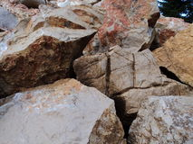Boulders. A pile of large boulders Stock Images