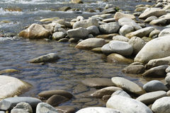 Boulders in the river Royalty Free Stock Photography