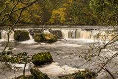Boulders in River Ure at Aysgarth Royalty Free Stock Images