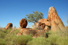 Boulders. Rock formation near Great Northern Hwy, Australia royalty free stock photo