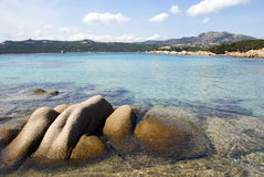 Boulders and sea in Sardinia Stock Photography
