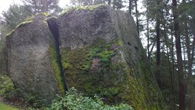 Boulders on South Pender island Royalty Free Stock Photo
