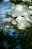 Boulders in a stream. Stream with smooth boulders Stock Images