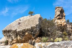 Boulders in Walnut Canyon in Arizona royalty free stock image