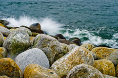 Boulders and water Royalty Free Stock Photo
