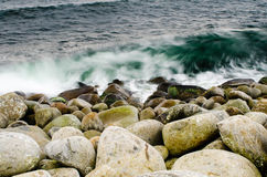 Boulders and water Royalty Free Stock Photos