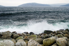 Boulders and water Stock Photo