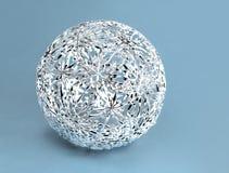 Boule argentée de décoration de filigrane de Noël Photo stock