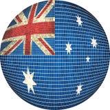 Boule avec le drapeau d'Australie illustration de vecteur