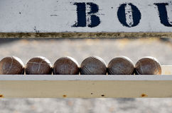Boule balls Stock Photography
