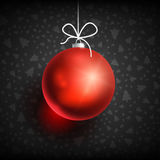 Boule black-01 de Noël Image stock