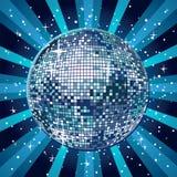 Boule bleue de disco Image libre de droits
