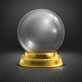 Boule, bola mágica vazia de vidro, ilustração do vetor do globo da neve ilustração stock