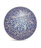 Boule brillante décorative bleue peu commune de sphère d'éclat Images libres de droits