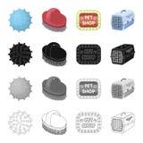 Boule, caoutchouc, jouet, et toute autre icône de Web dans le style de bande dessinée Marchandises, magasin de bêtes, achat, icôn Image stock