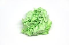 Boule chiffonnée de Livre vert Photos stock