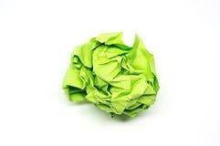 Boule chiffonnée de Livre vert Image libre de droits