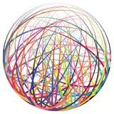 Boule colorée de ficelles Photographie stock libre de droits