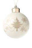 Boule décorative de christmass d'isolement sur le blanc Photographie stock libre de droits
