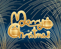 Boule d'étreinte de calligraphie de Joyeux Noël illustration libre de droits