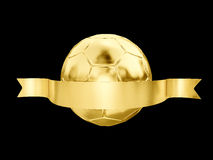 Boule d'or Photographie stock libre de droits