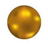 Boule d'or Photo libre de droits