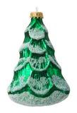 Boule d'arbre de Noël d'isolement sur le fond blanc Photo libre de droits