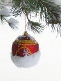 Boule d'arbre de Noël - photo courante Photographie stock