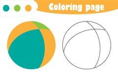 Boule dans le style de bande dessinée, page de coloration, jeu de papier d'éducation de ressort pour le développement des enfants illustration libre de droits
