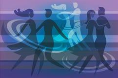 Boule dansant le fond coloré Photographie stock libre de droits
