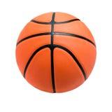 Boule de basket-ball au-dessus du fond blanc Images libres de droits