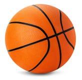 Boule de basket-ball d'isolement sur le fond blanc Image libre de droits