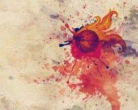 Boule de basket-ball du feu illustration libre de droits