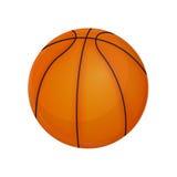 Boule de basket-ball sur un fond blanc, vecteur Photos libres de droits