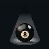 Boule de billard noire numéro huit Image libre de droits