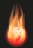 Boule de bowling avec la flamme Photos stock