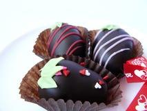 Boule de chocolat de trio Image libre de droits