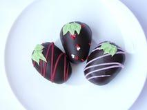 Boule de chocolat de trio Photographie stock
