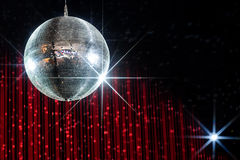Boule de disco avec des étoiles Images libres de droits