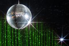 Boule de disco avec des étoiles Image stock