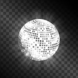 Boule de disco d'isolement sur le fond transparent Vecteur Photo stock