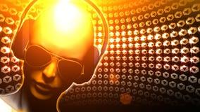 Boule de disco de fille du DJ de diamant Image libre de droits