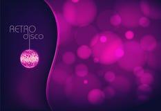 Boule de disco. Fond de disco Images libres de droits