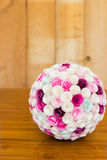 Boule de fleurs de papier Photo stock