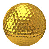 Boule de golf d'or Photos stock