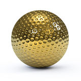 boule de golf de l'or 3d Image libre de droits